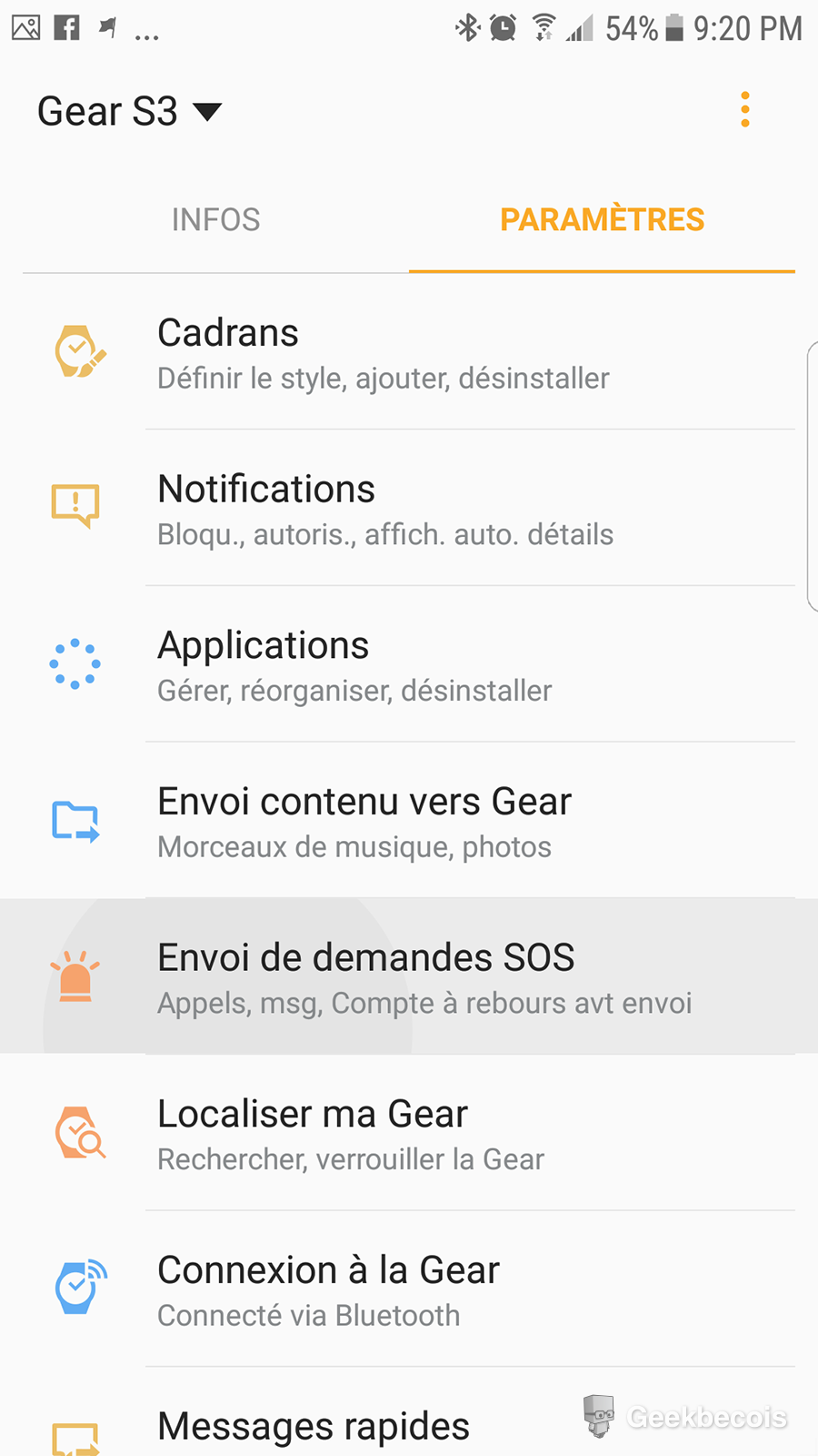 Sos - Application | Samsung Gear S3