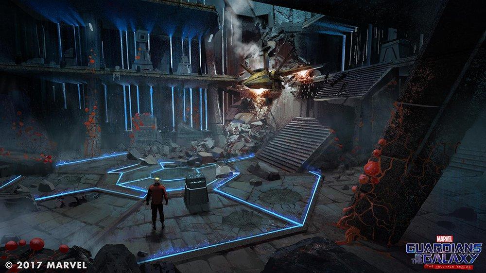 Explorez un vaisseau en ruines dans Guardians of the Galaxy