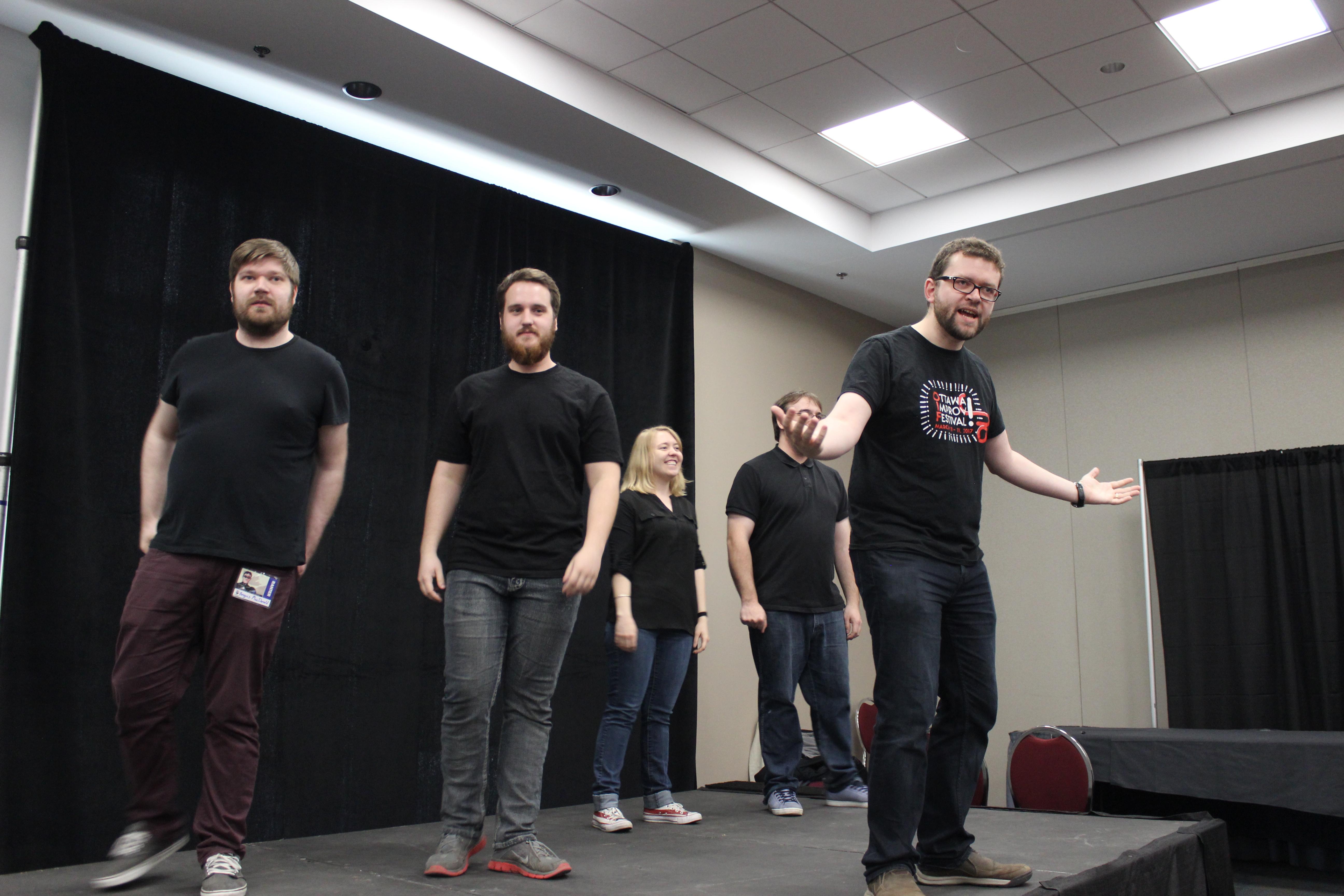 Le moment fort de mon expérience au ComicCon d'Ottawa a été la joute d'improvisation sur thème de Donjons et Dragons