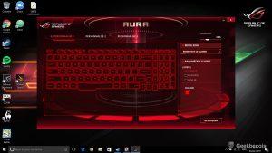 Asus ROG Strix - Aura clavier couleur uni