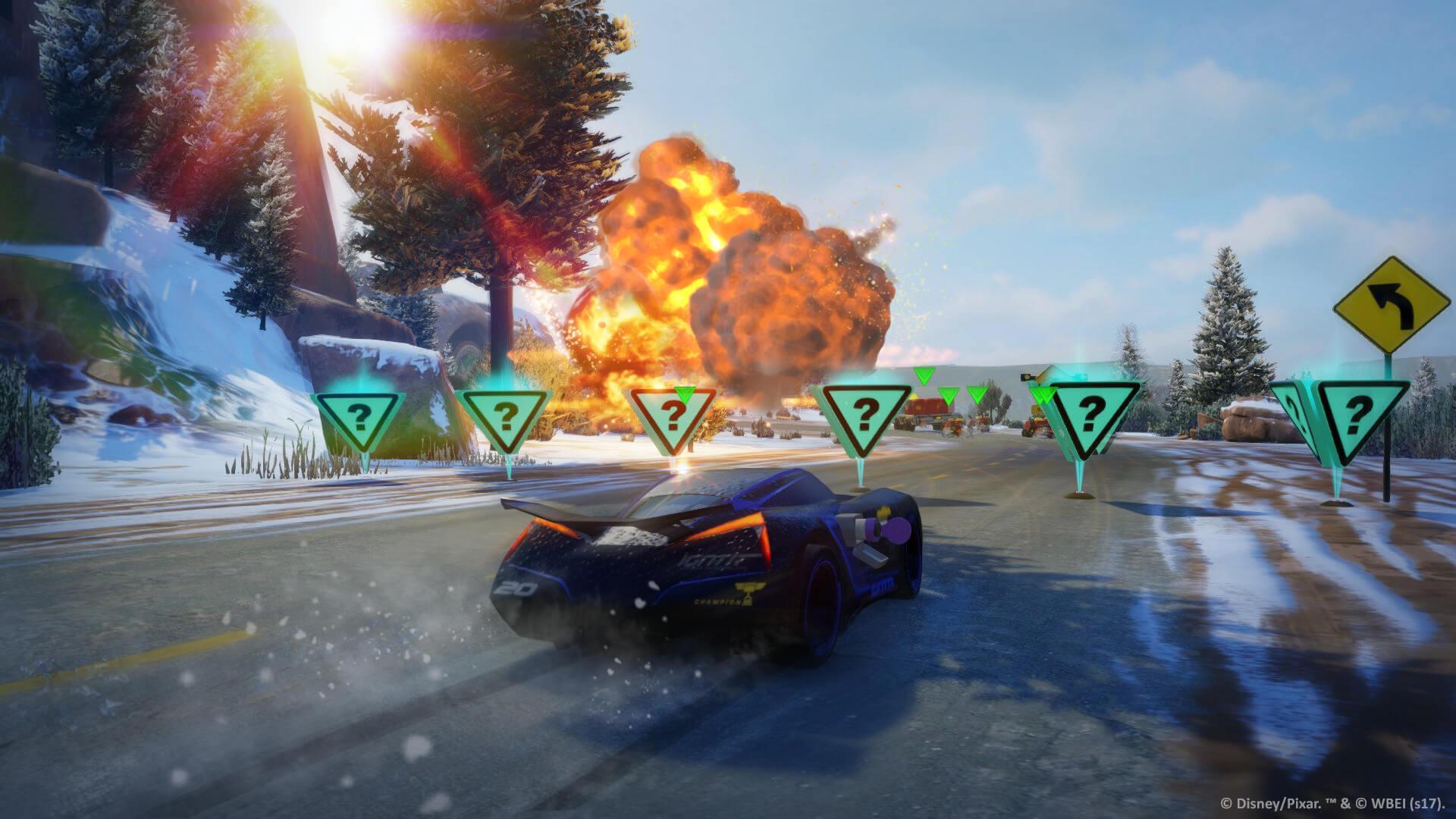 Ralentissez vos adversaires avec une sélection d'armes dans le mode Battle Race
