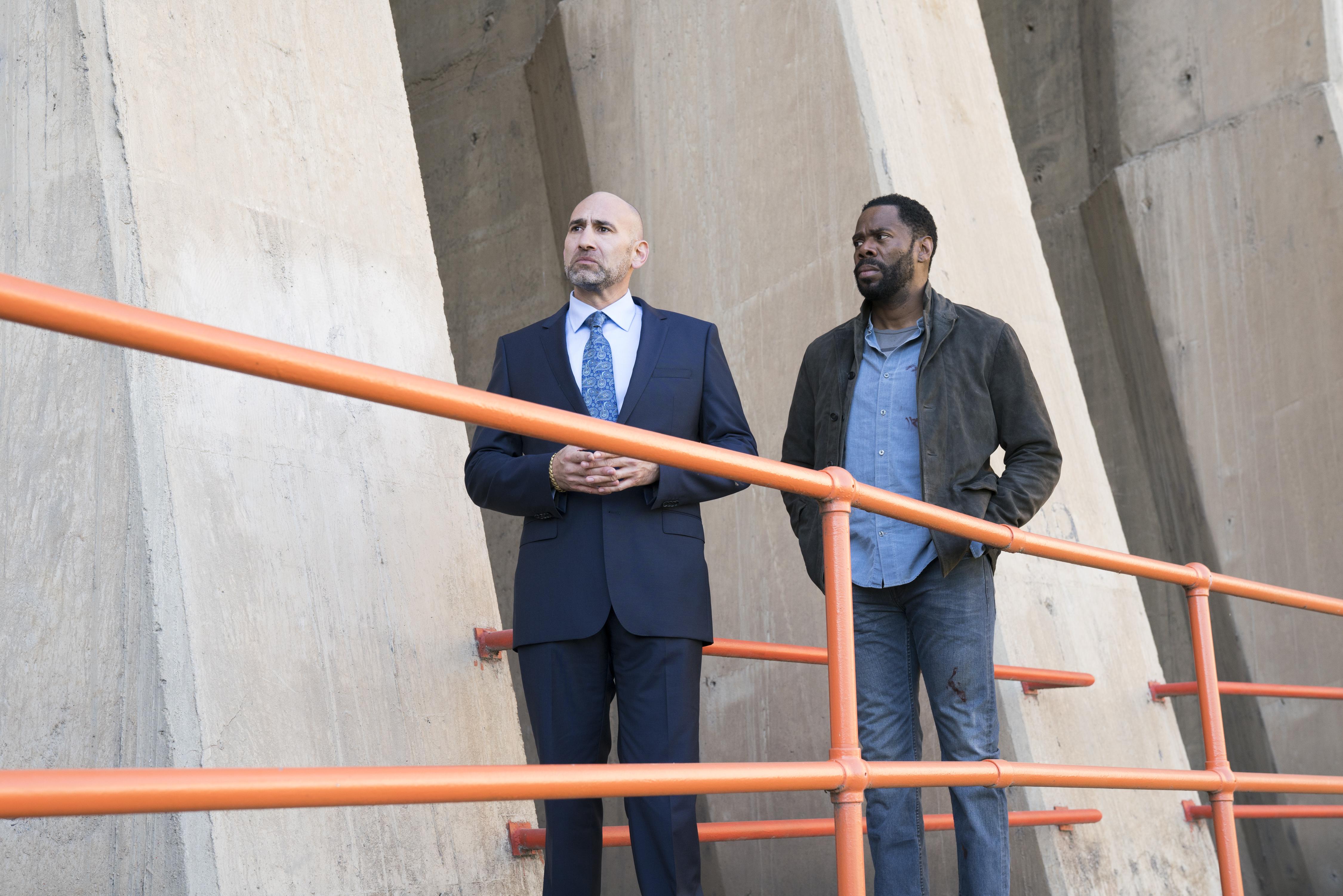 Victor Strand (Colman Domingo), Dante Esquivel (Jason Manuel Olazabal)- Fear the Walking Dead Saison 3 Épisode 3 - Photo : Michael Desmond/AMC