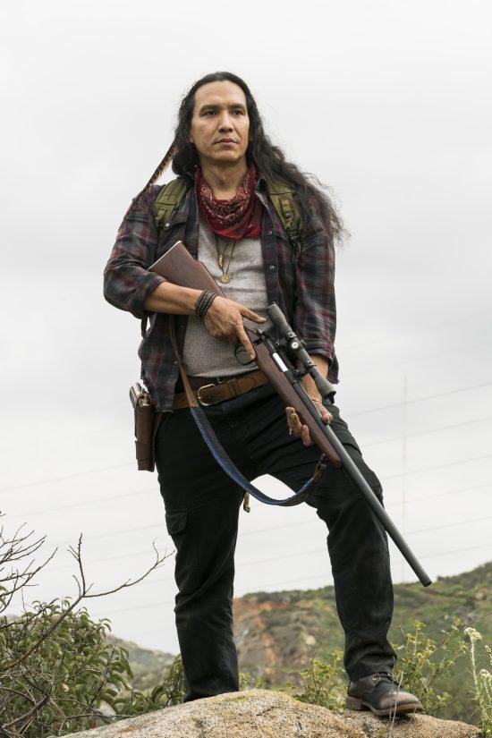 Qaletaqa Walker (Michael Greyeyes) - Fear the Walking Dead Saison 3 Épisode 5 - Photo: Richard Foreman, Jr/AMC