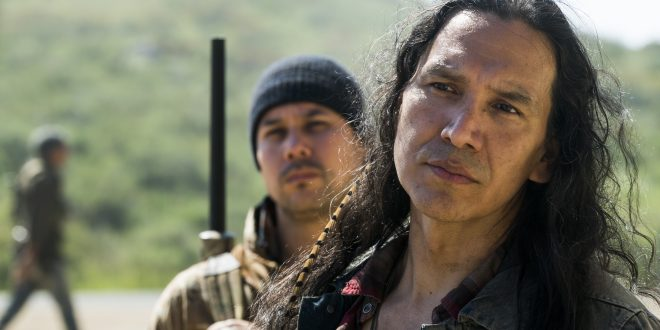 Qaletaqa Walker (Michael Greyeyes)- Fear the Walking Dead Saison 3, Episode 7 - Photo Credit: Richard Foreman, Jr/AMC