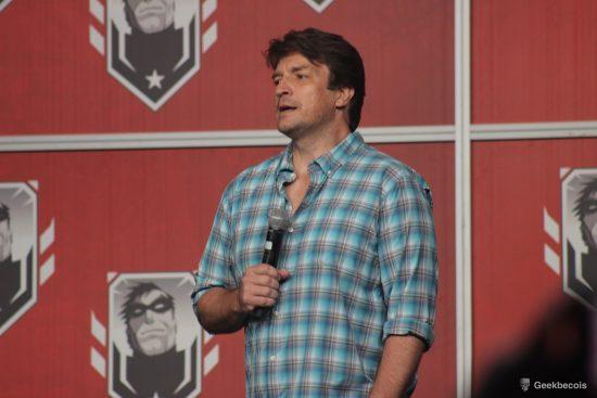 Le comédien Nathan Fillion a fait preuve d'un grand sens de l'humour lors de sa conférence