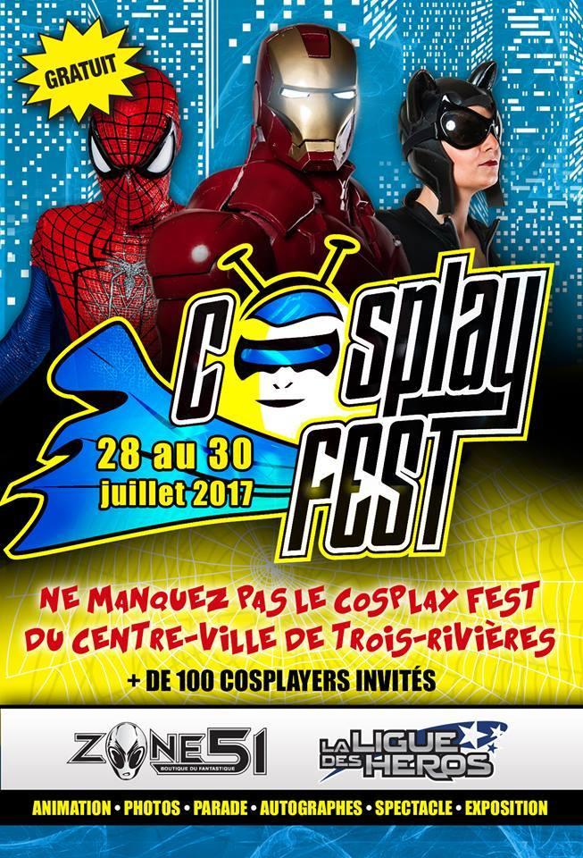 Affiche | Cosplay Fest anime le centre-ville de Trois-Rivières avec vos héros préférés!