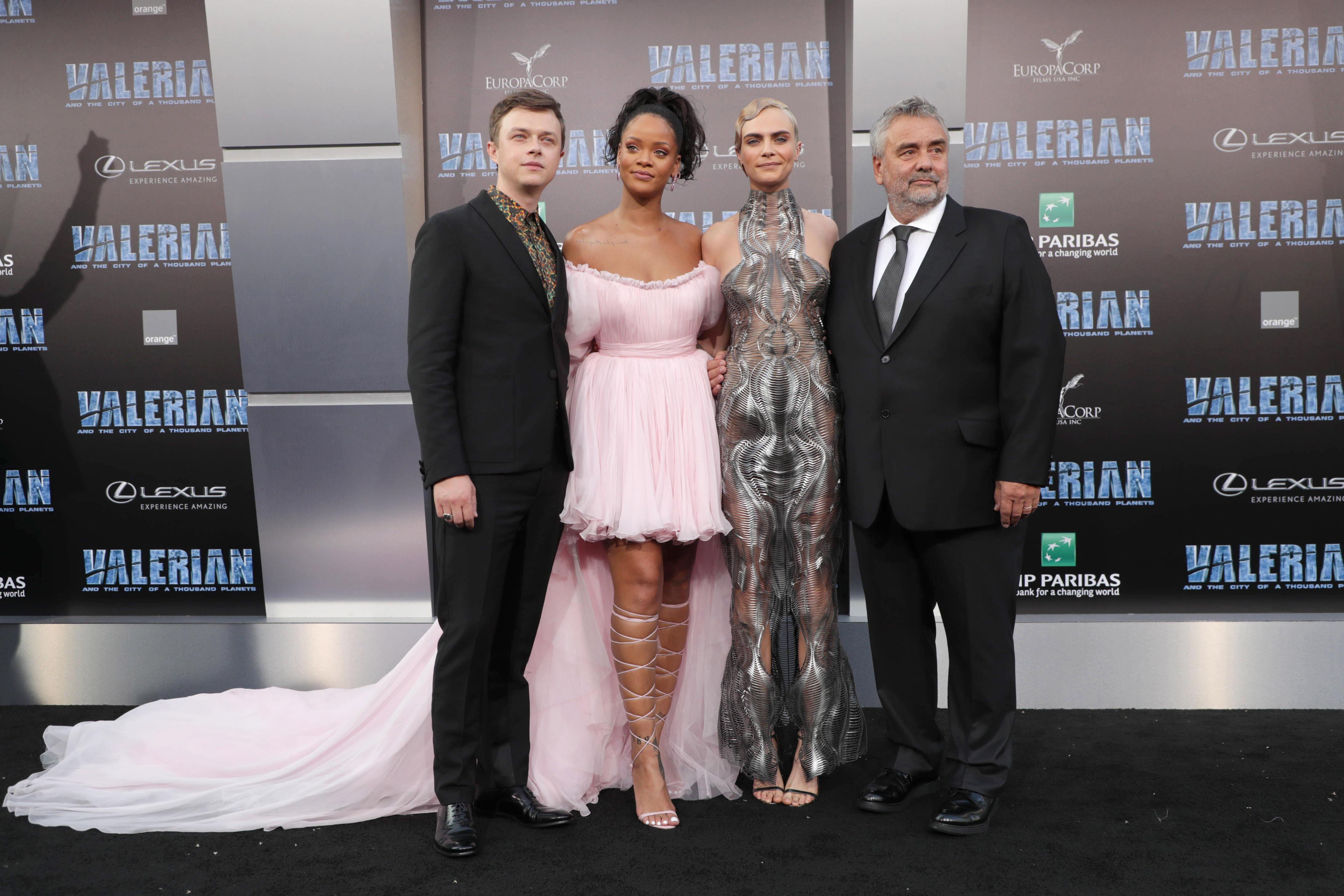 Dane DeHaan, Rihanna, Cara Delevingne et Director Luc Besson | VALÉRIAN ET LA CITÉ DES MILLE PLANÈTES<br /> Photo: Eric Charbonneau