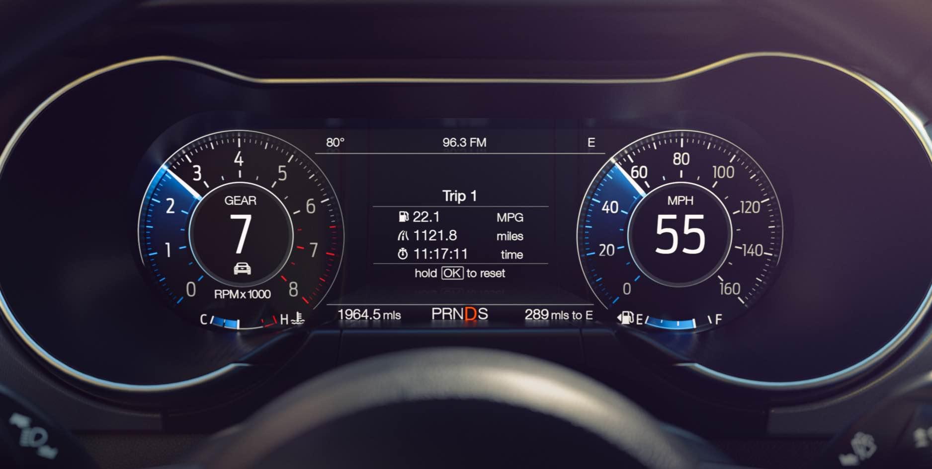 Tableau de bord de 12 pouces de la Mustang 2018 offert en option. - Source : Ford