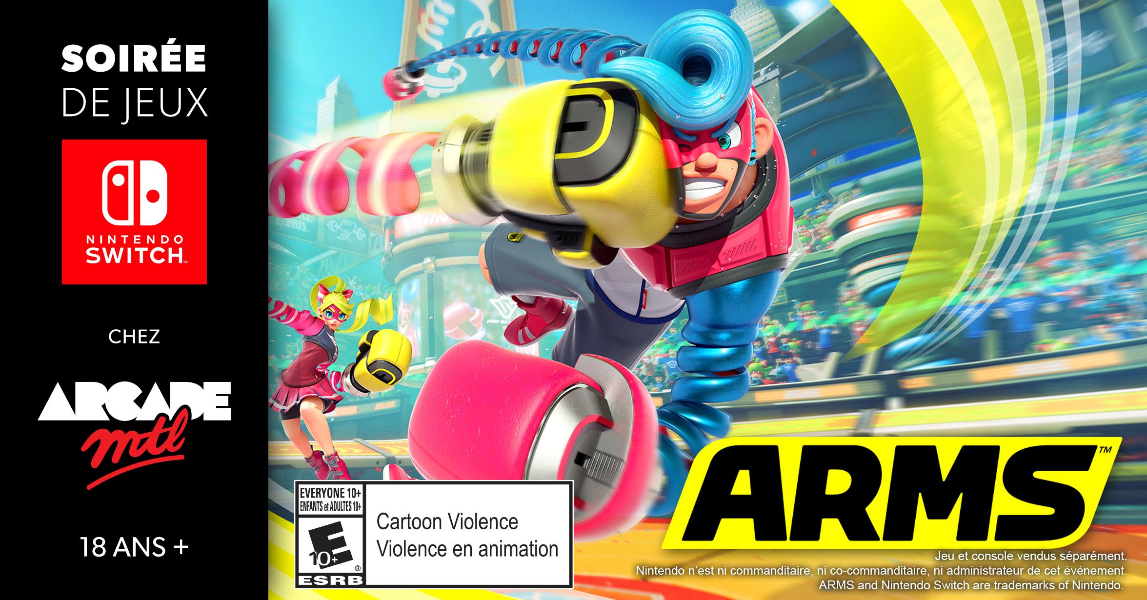 Un jeu de combat pour les petits et grands (en autant qu'ils aient 18 ans!), ARMS sera la vedette du tournoi le 24 août