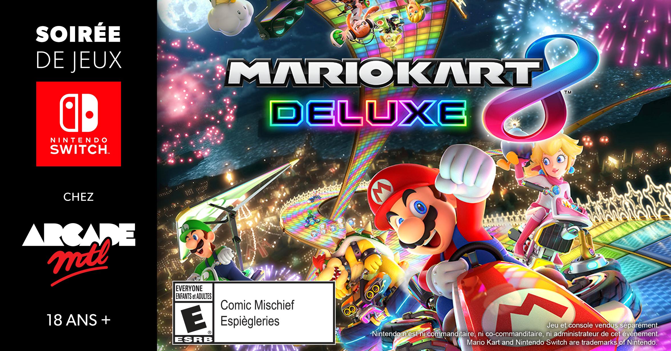 À vos volants et vos carapaces de tortues! Mario Kart 8 Deluxe sera la jeu en vedette du tournoi du 17 août