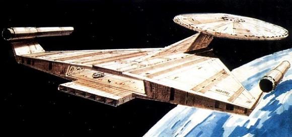La nouvelle version de l'USS Enterprise pour la télé-série annulée Star Trek Phase II.