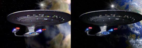 La différence entre la version originale de la série avec celle en haute définition.