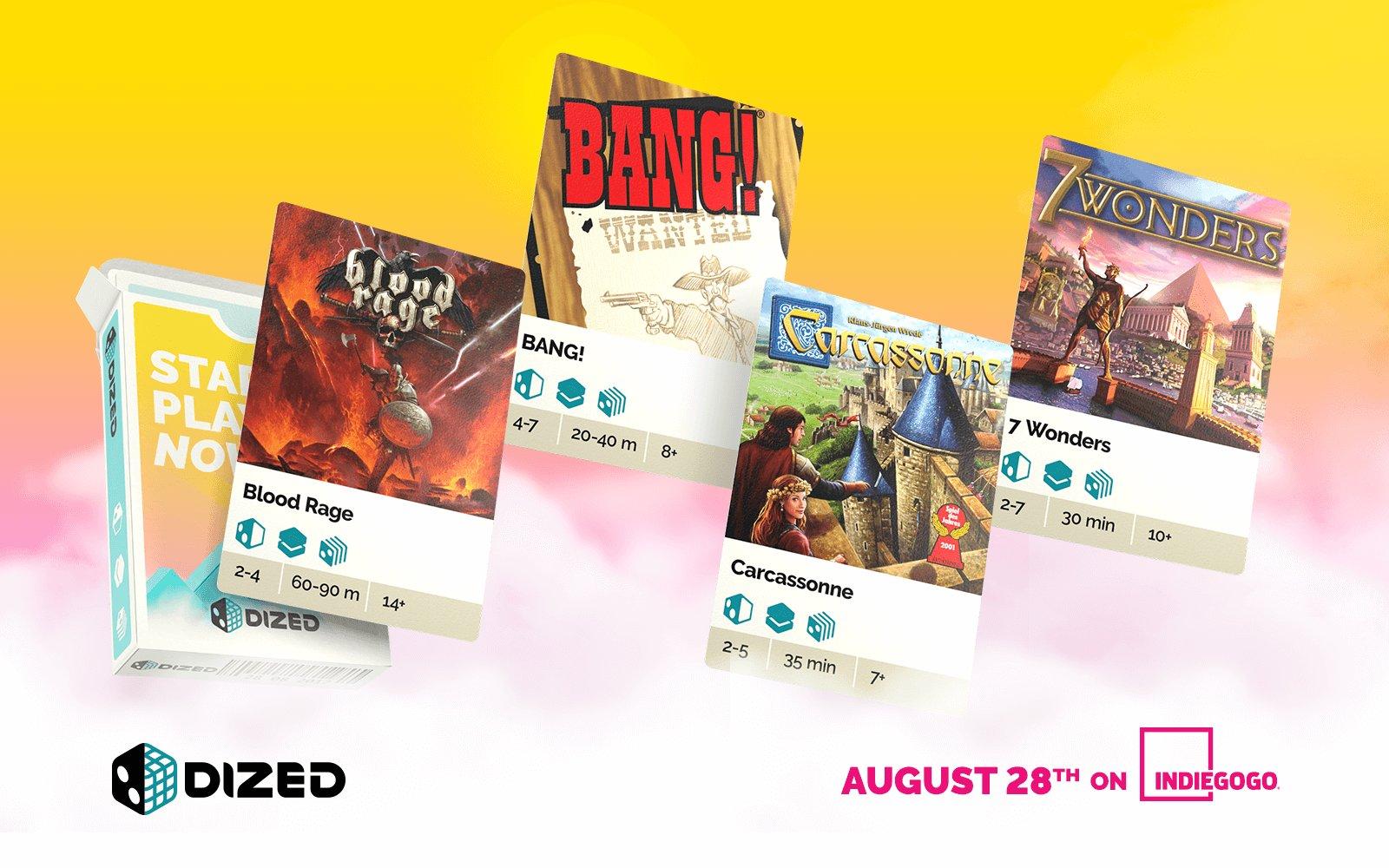 Des classiques comme 7 Wonders et Carcassonne seront supportés dès le lancement de Dized