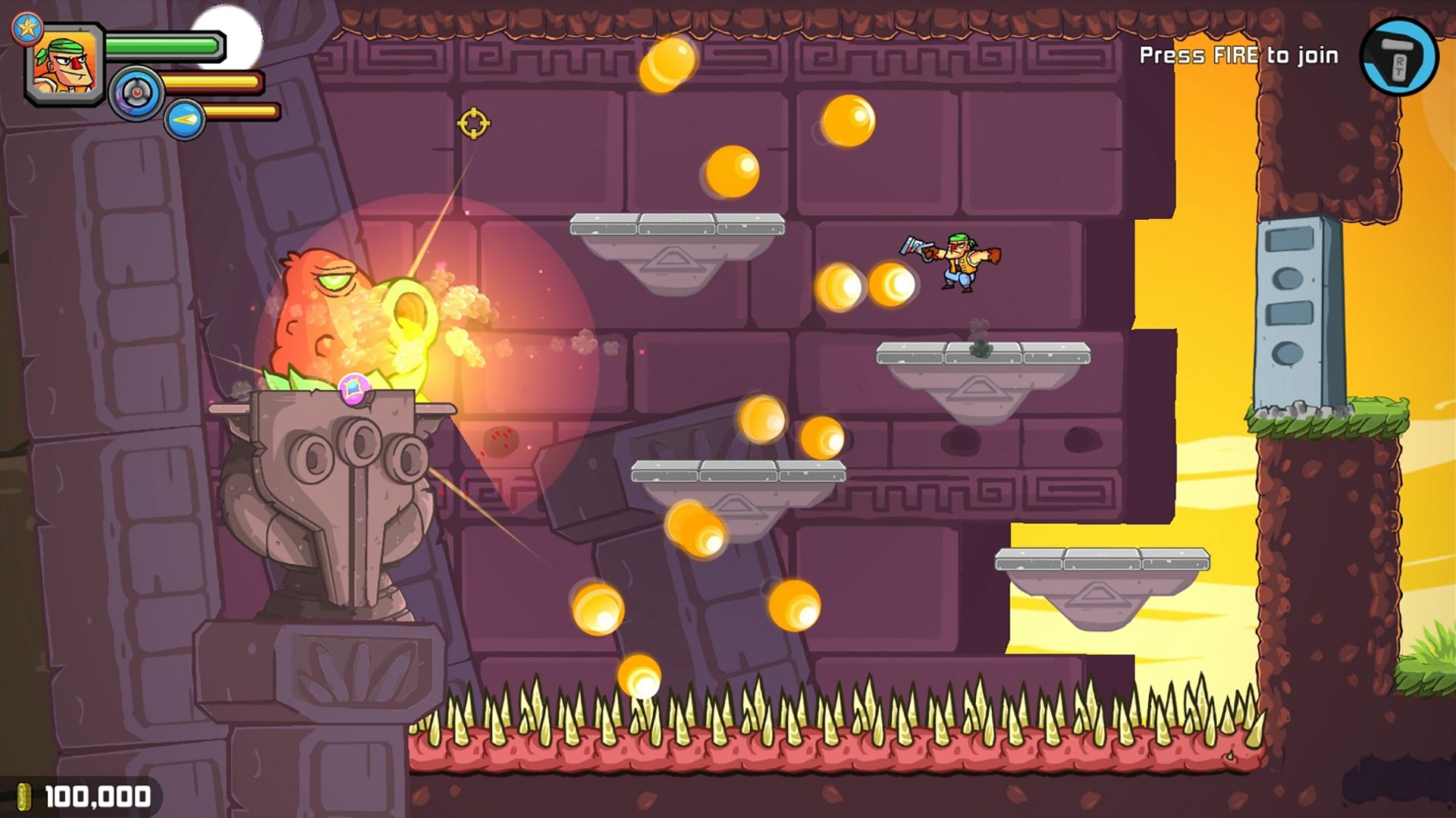 Les combats contre les boss dans Greedy Guns nous rappellent la difficulté de certains classiques comme Contra