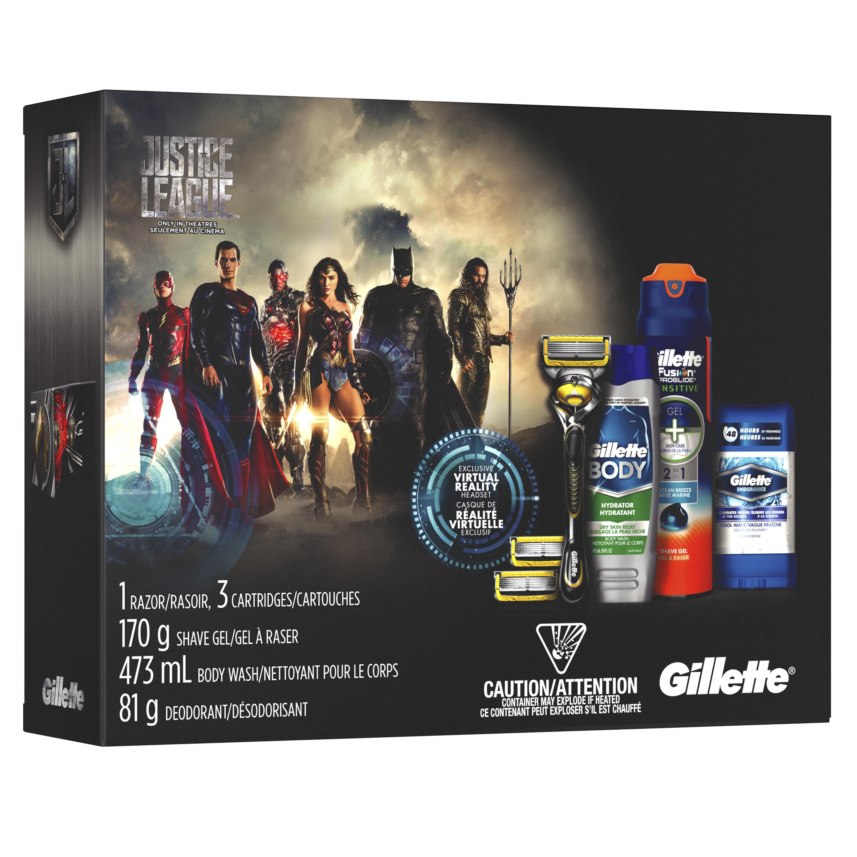Ensemble-cadeau Gillette Ligue des justiciers