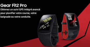 Samsung Gear Fit2 Pro | Les nouveaux objets connectés de Samsung pour l'activité physique sont en vente.