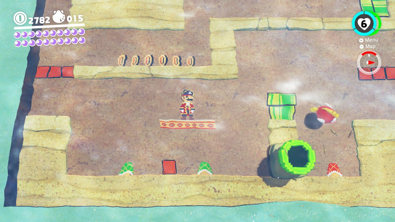 Je me noie littéralement dans la nostalgie. | Seaside Kingdom - 8-bit - Super Mario Odyssey
