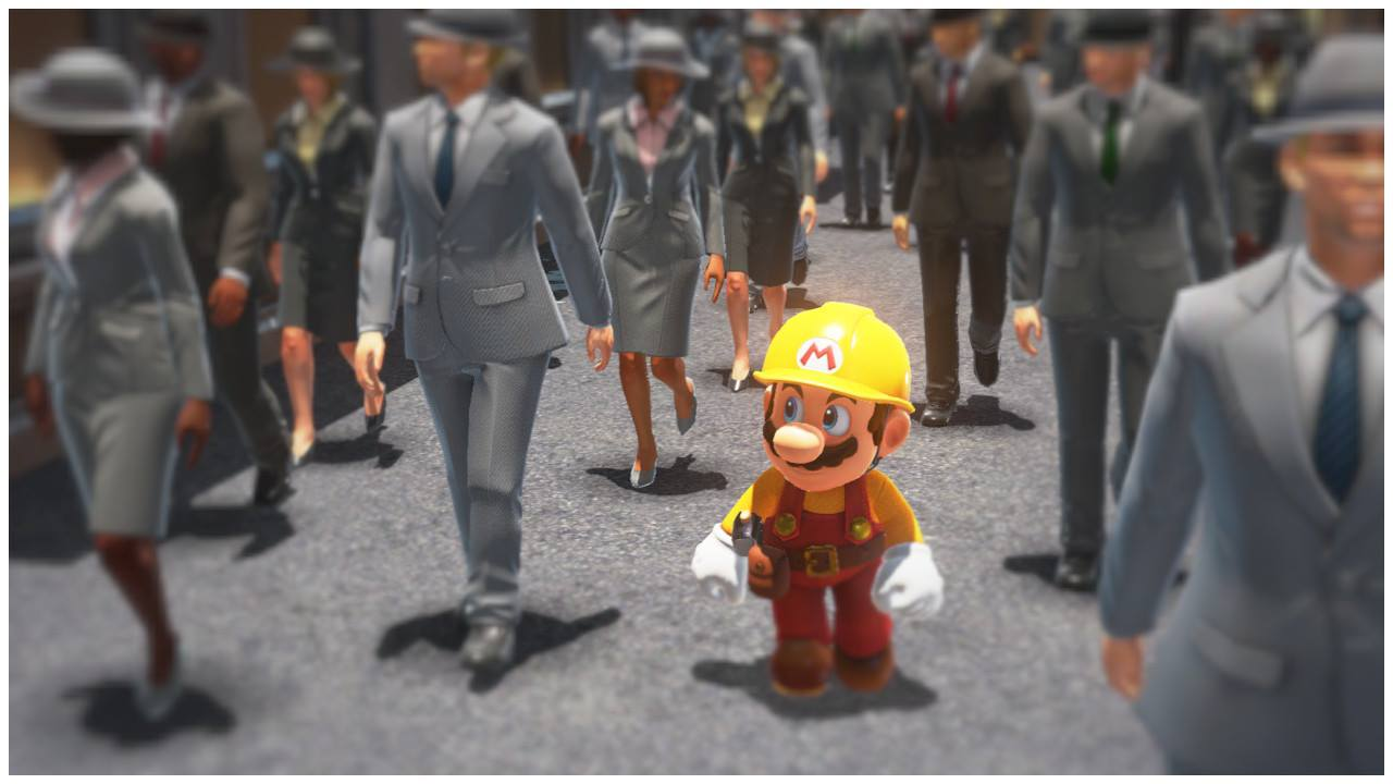 Tous en route vers le travail. | Super Mario Odyssey