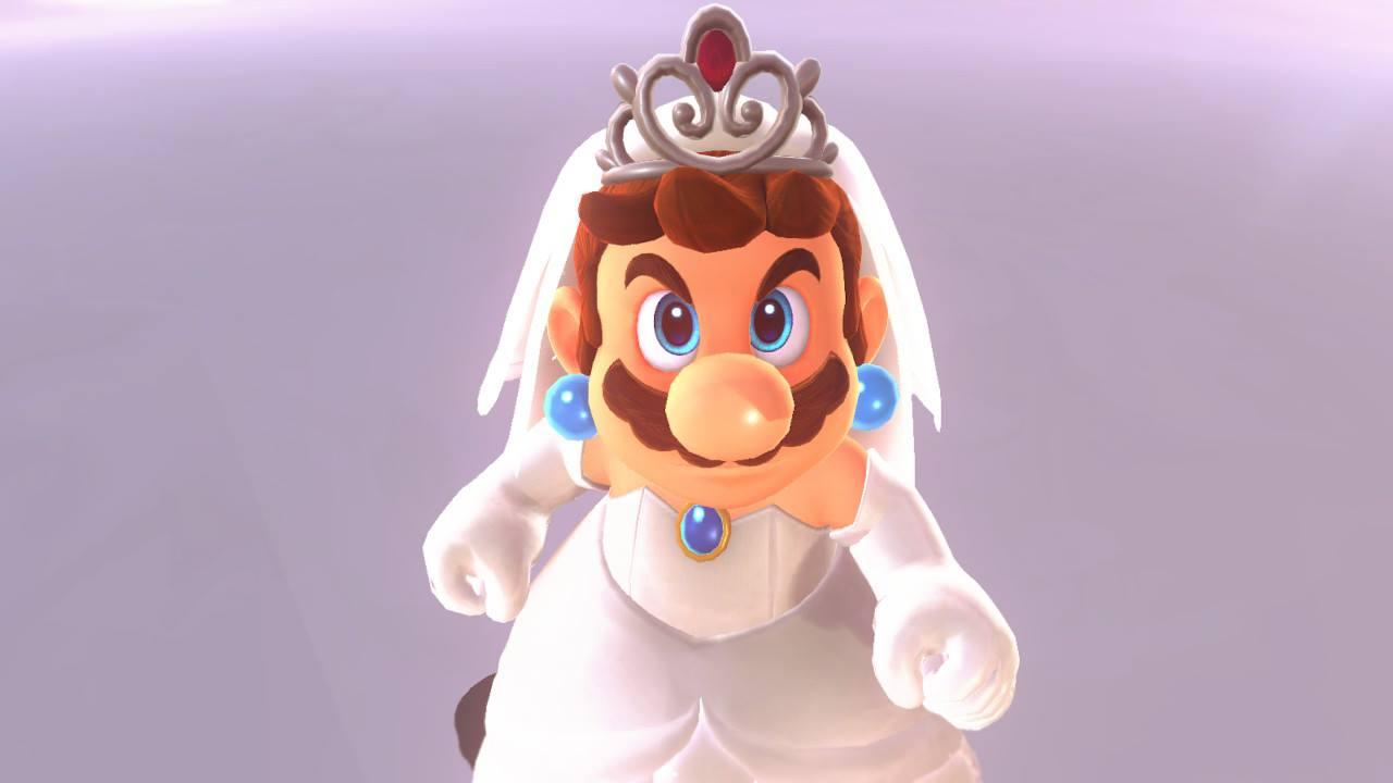 Super Mario Odyssey | Mario en robe de mariage