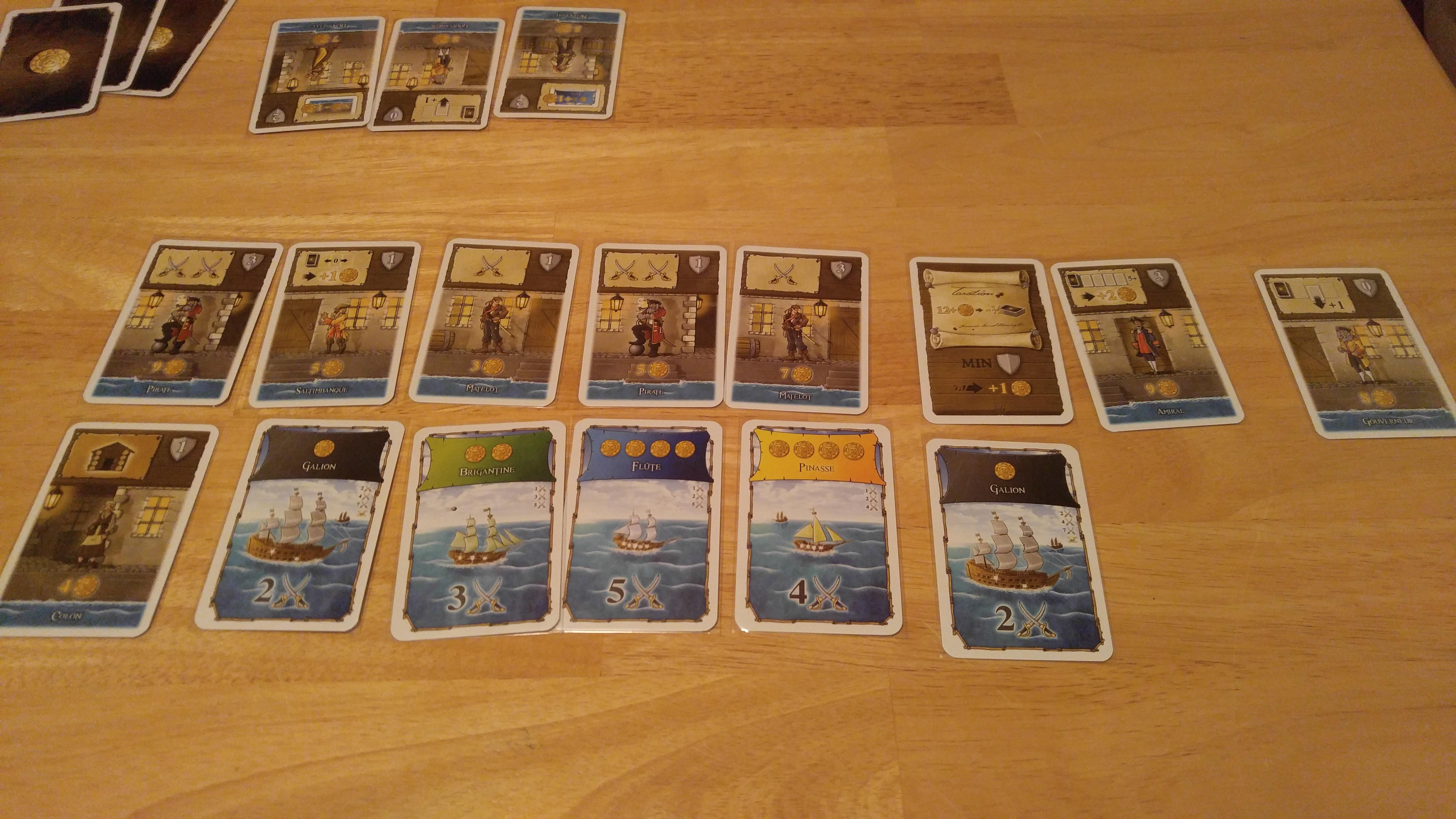 Ce pirate était trop avide, il a révélé deux navires de la nation noire. Il perd donc son tour.