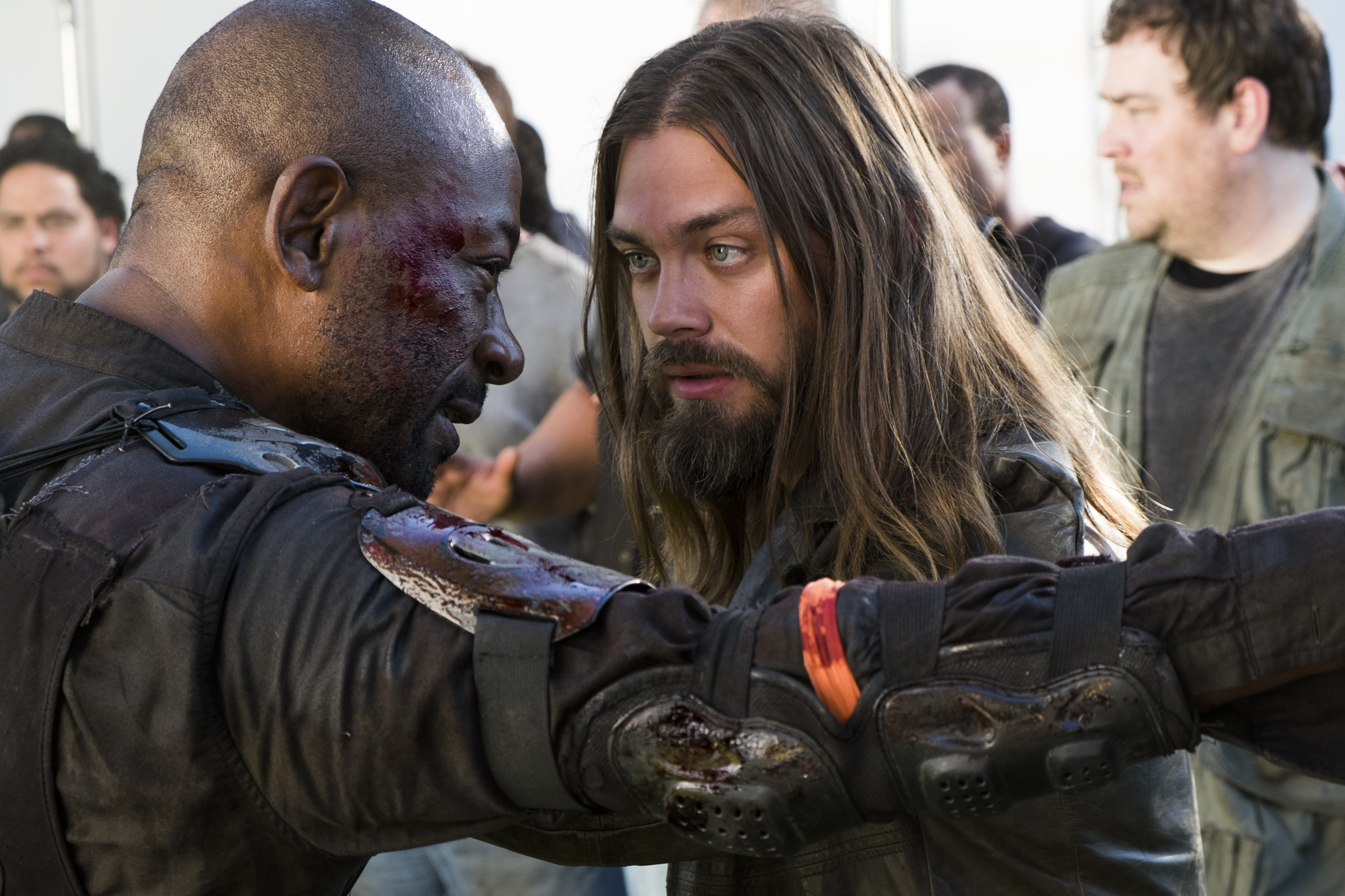 Paul 'Jesus' Rovia (Tom Payne), Morgan Jones (Lennie James) - The Walking Dead Saison 8 Épisode 2 - Photo: Gene Page/AMC