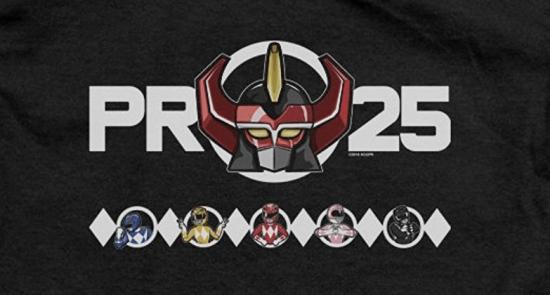 25e anniversaire des Power Rangers - t-shirt