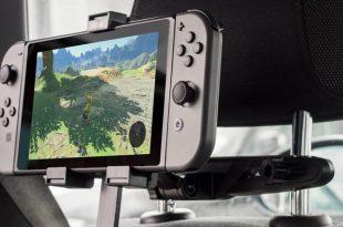 Le support d'appui-tête de voiture pour Nintendo Switch d'Olixar