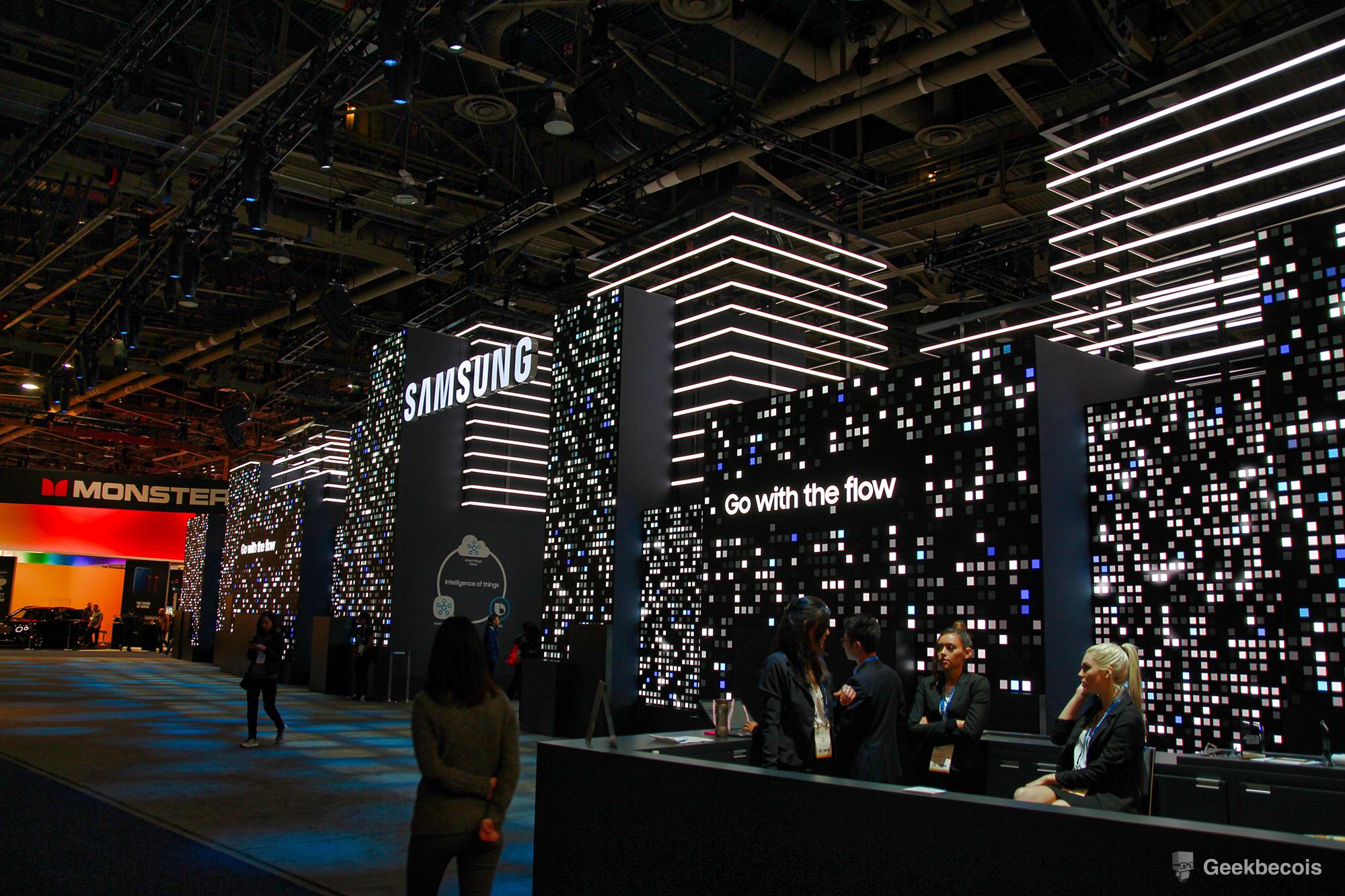 CES2018 - Visite du kiosque de Samsung en vidéo