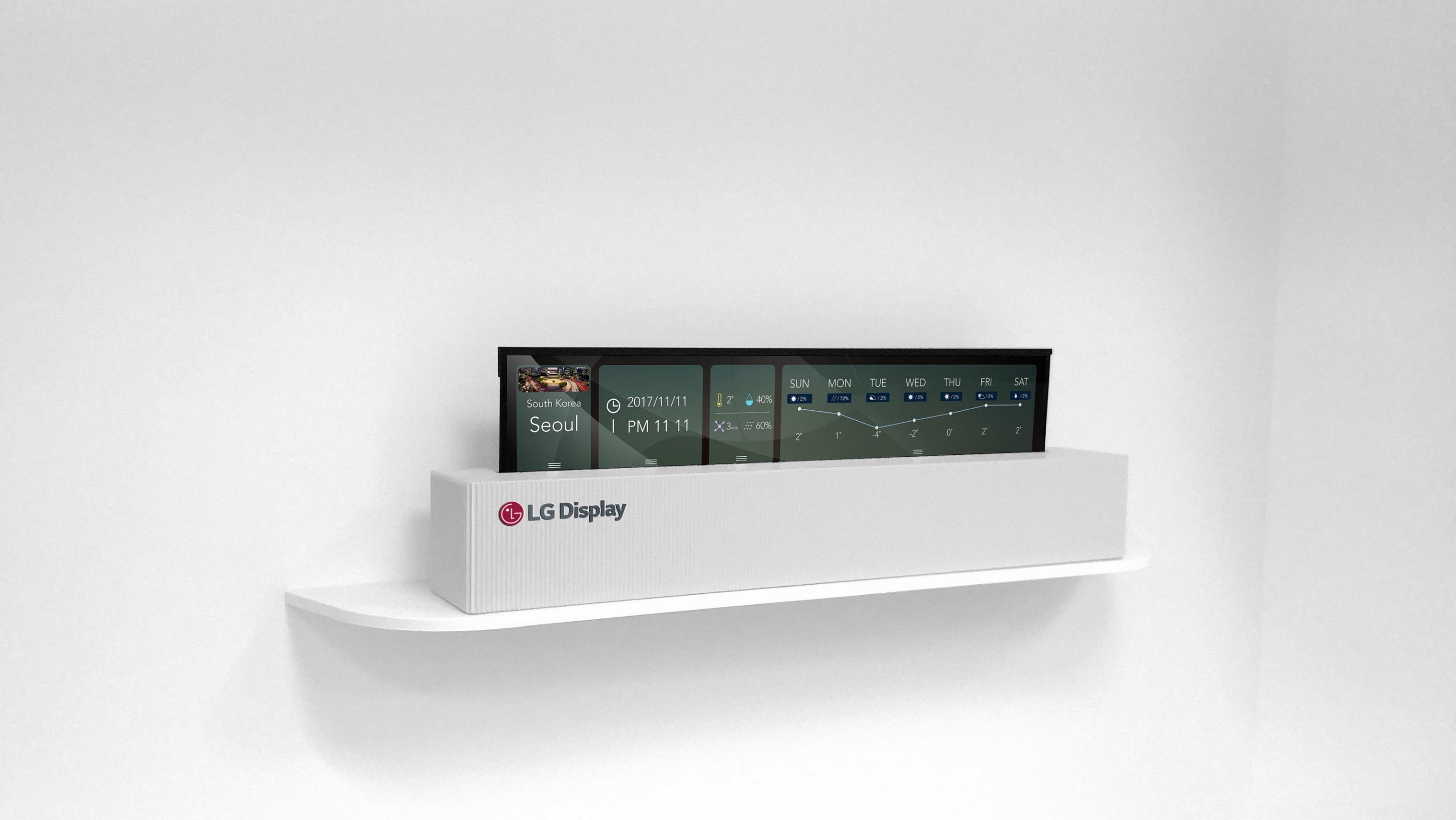 """L'écran pliable de LG peut être utilisé comme une horloge """"hi-tech""""!"""