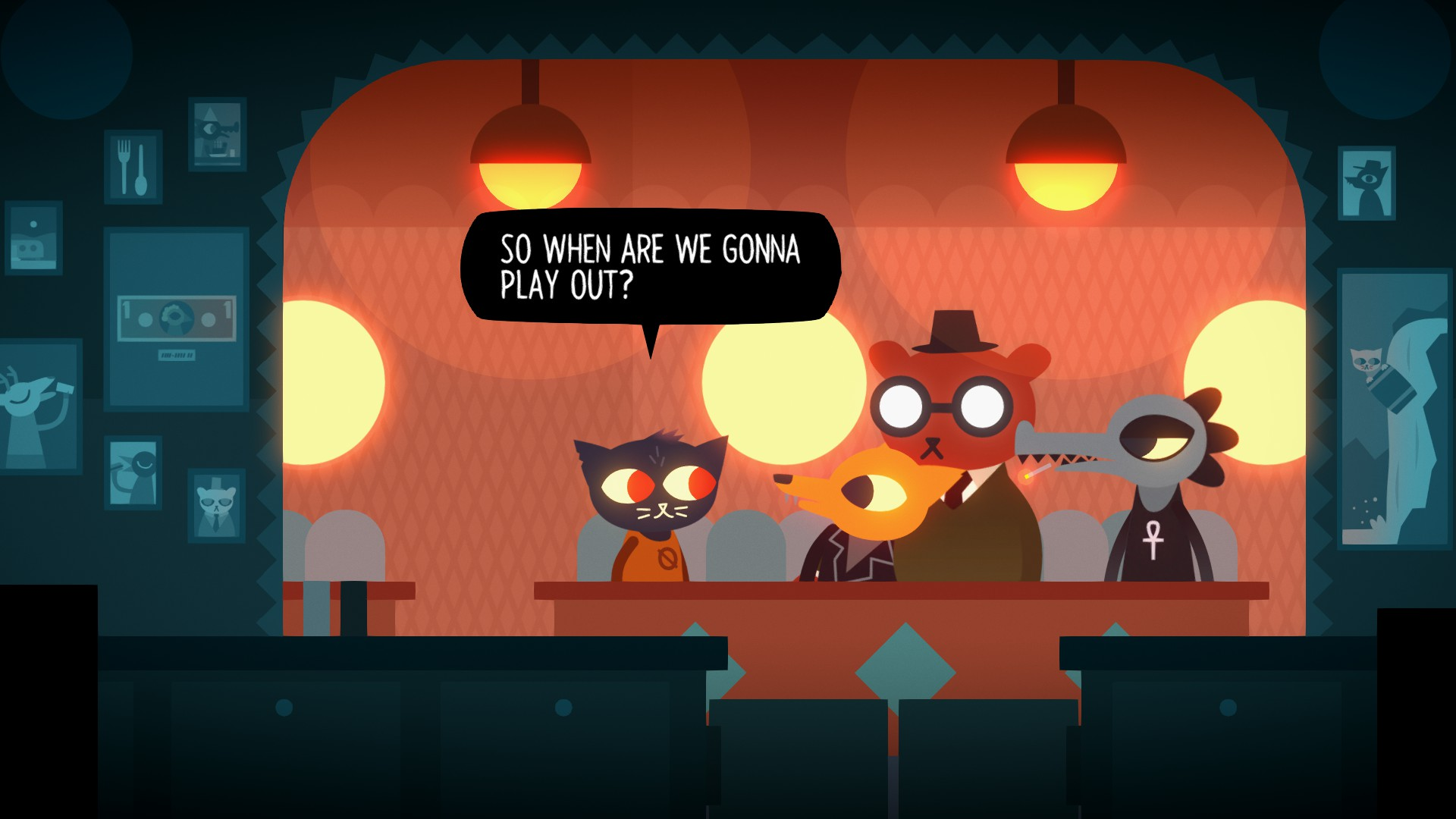 Mae, Gregg, Angus et Bae. | Night in the Woods