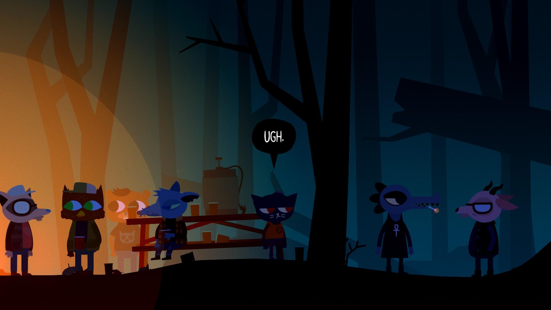 Mae à une fête dans les bois. | Night in the Woods
