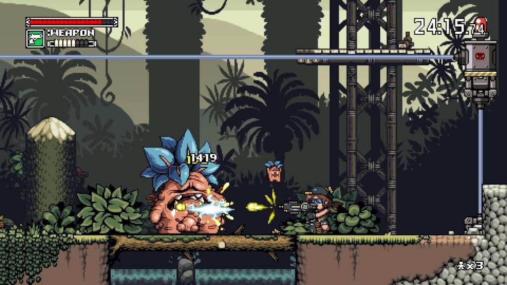 La plupart des ennemis sont les classiques soldats, mais certains sont beaucoup plus bizarres, comme cette plante mandragore géante.