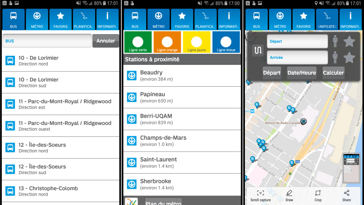La STM abandonne discrètement son application mobile