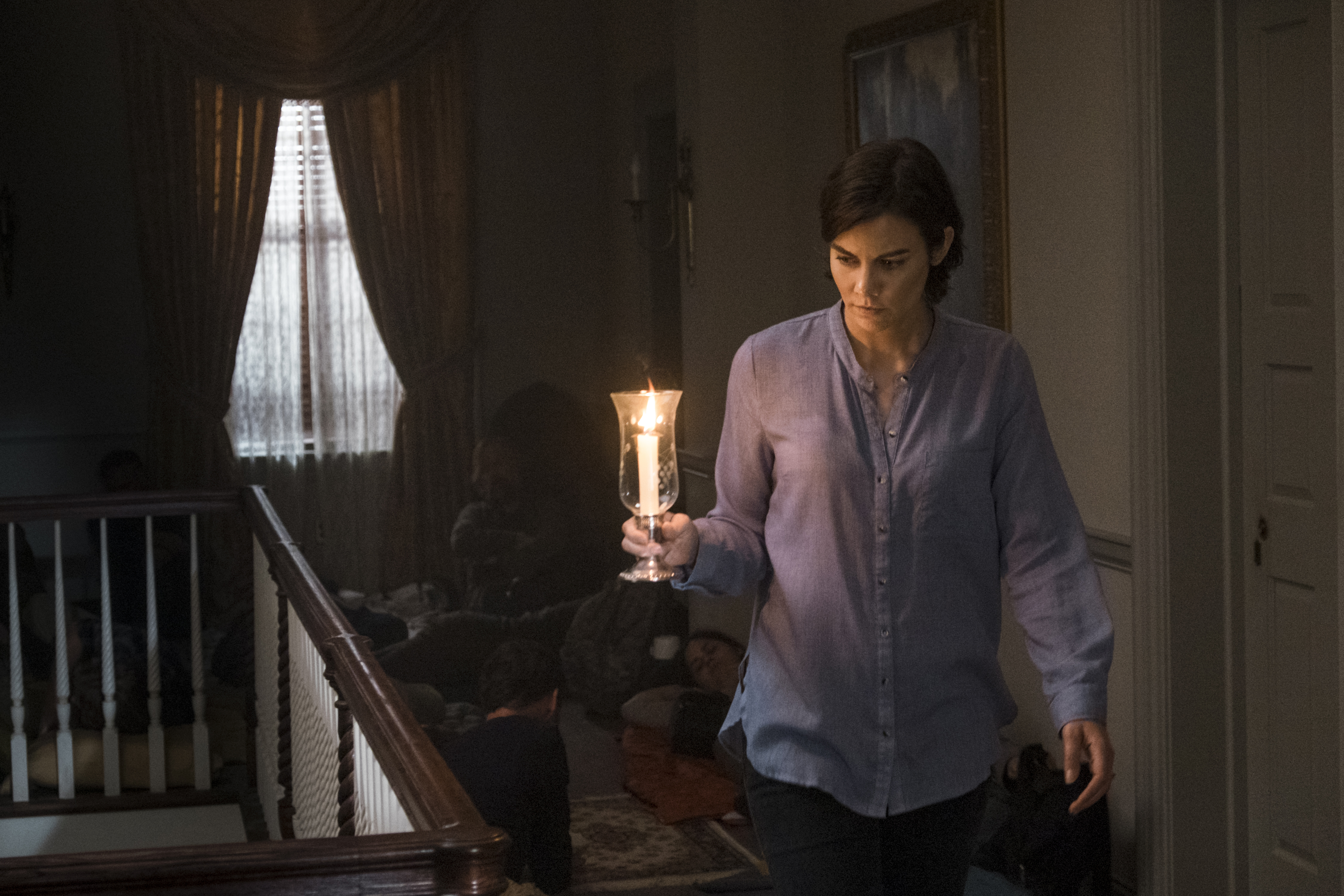 Maggie Greene (Lauren Cohan) découvre avec horreur le plan de Negan - The Walking Dead Saison 8 Épisode 13 - Crédit photo: Gene Page/AMC