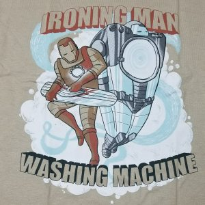 Logo T-shirt Ironing Man Washing Machine