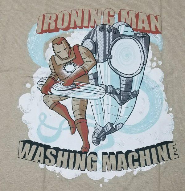 Logo T-shirt Ironing Man Washing Machine