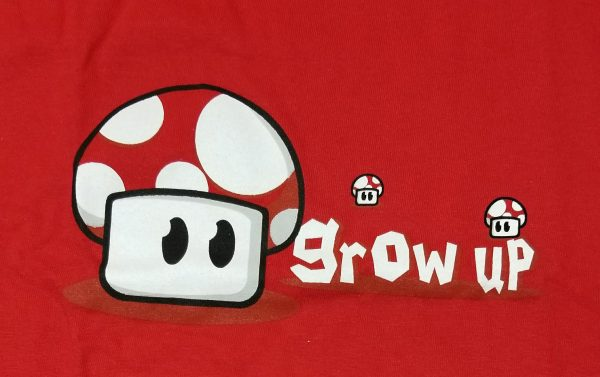 T-shirt de Mario : Grow up