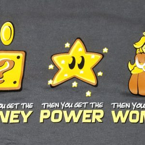 T-shirt Money + Power = Woman