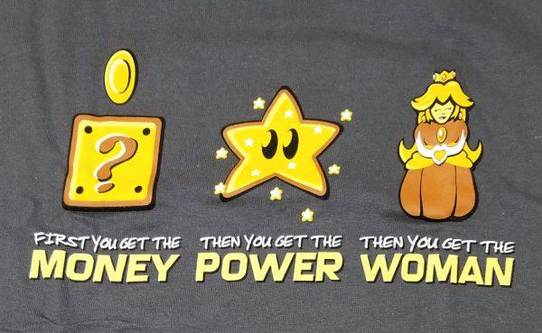 T-shirt Money + Power = Woman
