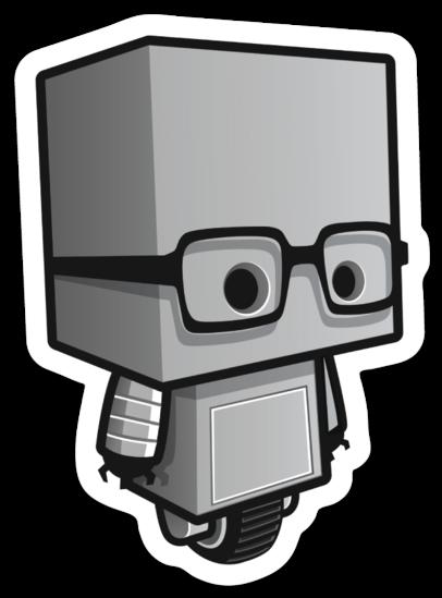 Autocollant du robot Geekbecois