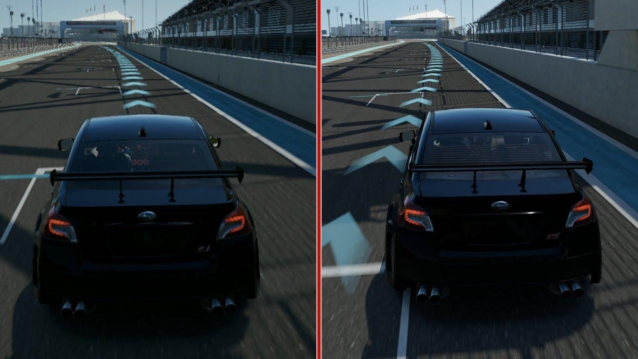 À gauche, le jeu sur la Xbox One S et à droite sur la Xbox One X. Le niveau des détails est supérieur