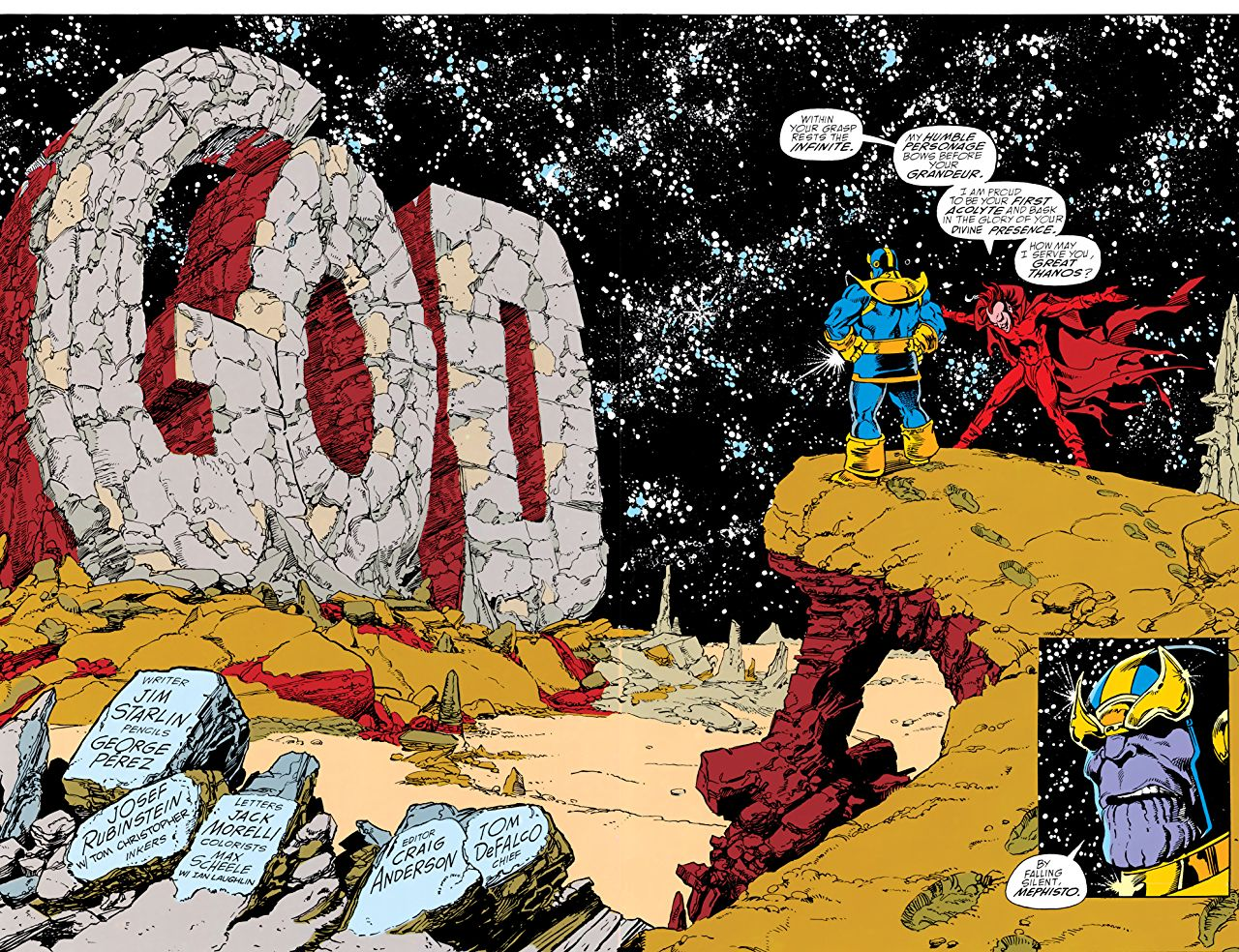 Thanos dans The Infinity Gauntlet #1