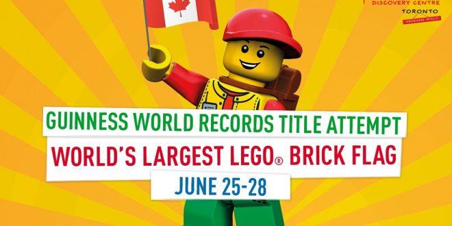 LEGOLAND Discovery Centre Toronto tentera de créer le plus gros drapeau en LEGO au monde!