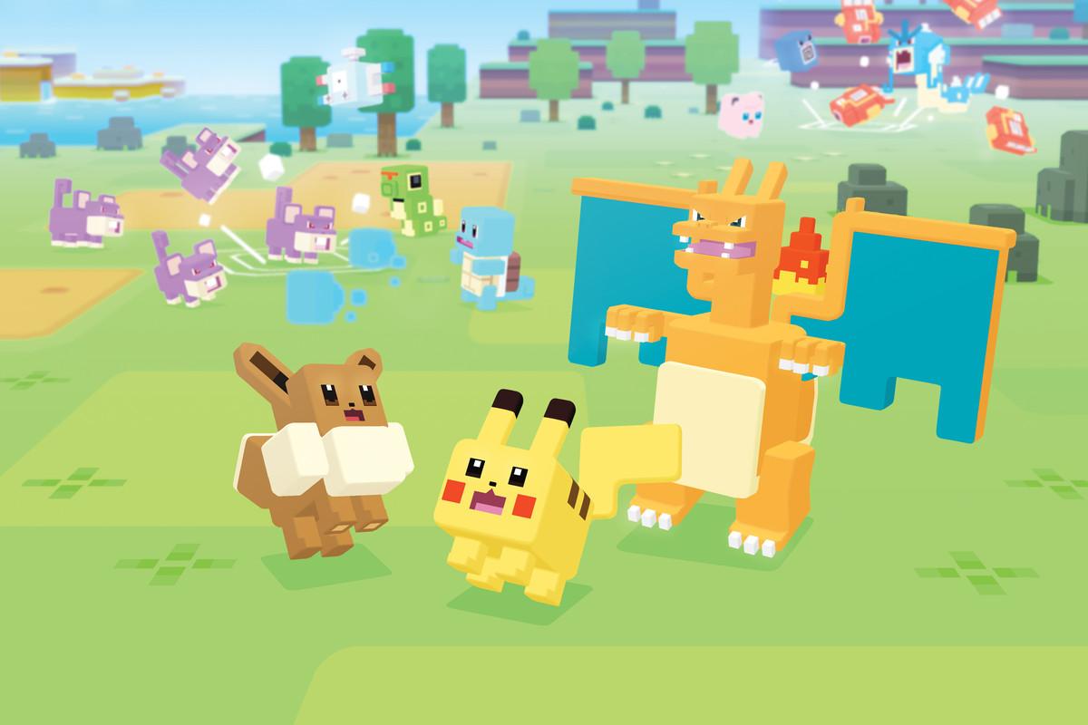 Pokémon Quest les pokémons cubiques!