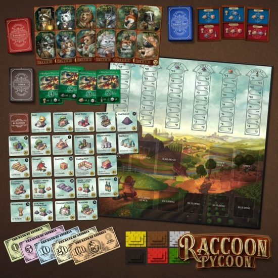 Jeu de société Raccoon Tycoon