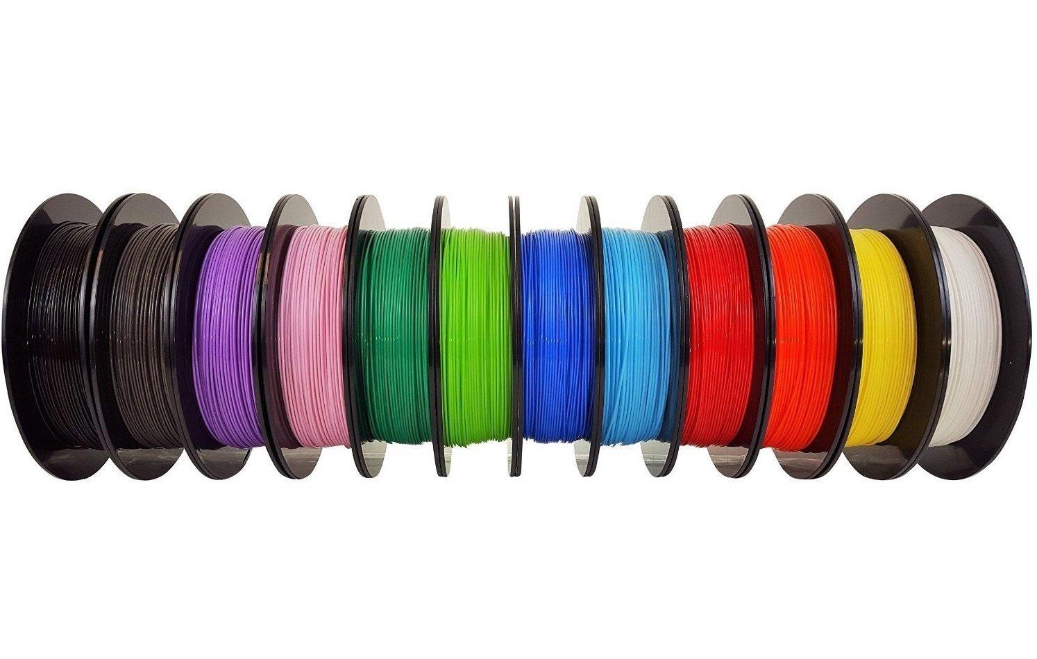 Un éventail de couleurs disponibles