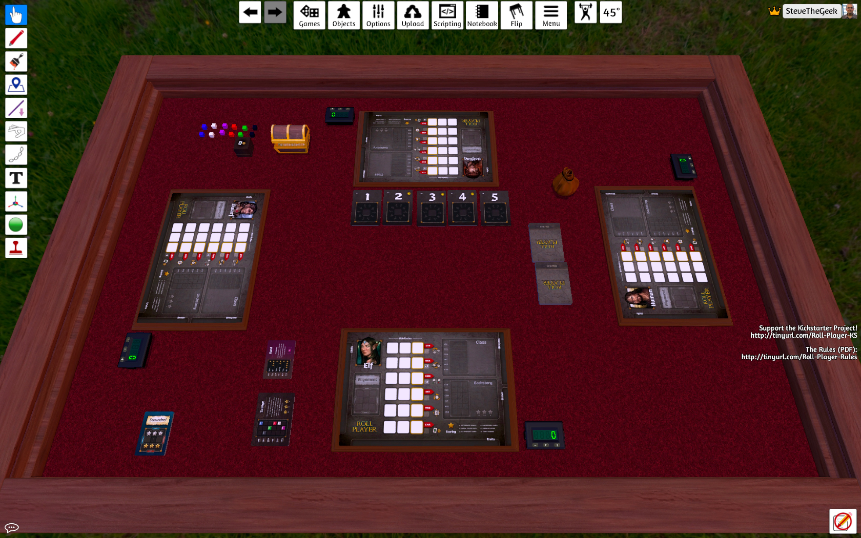 Tabletop Simulator - Roll Player