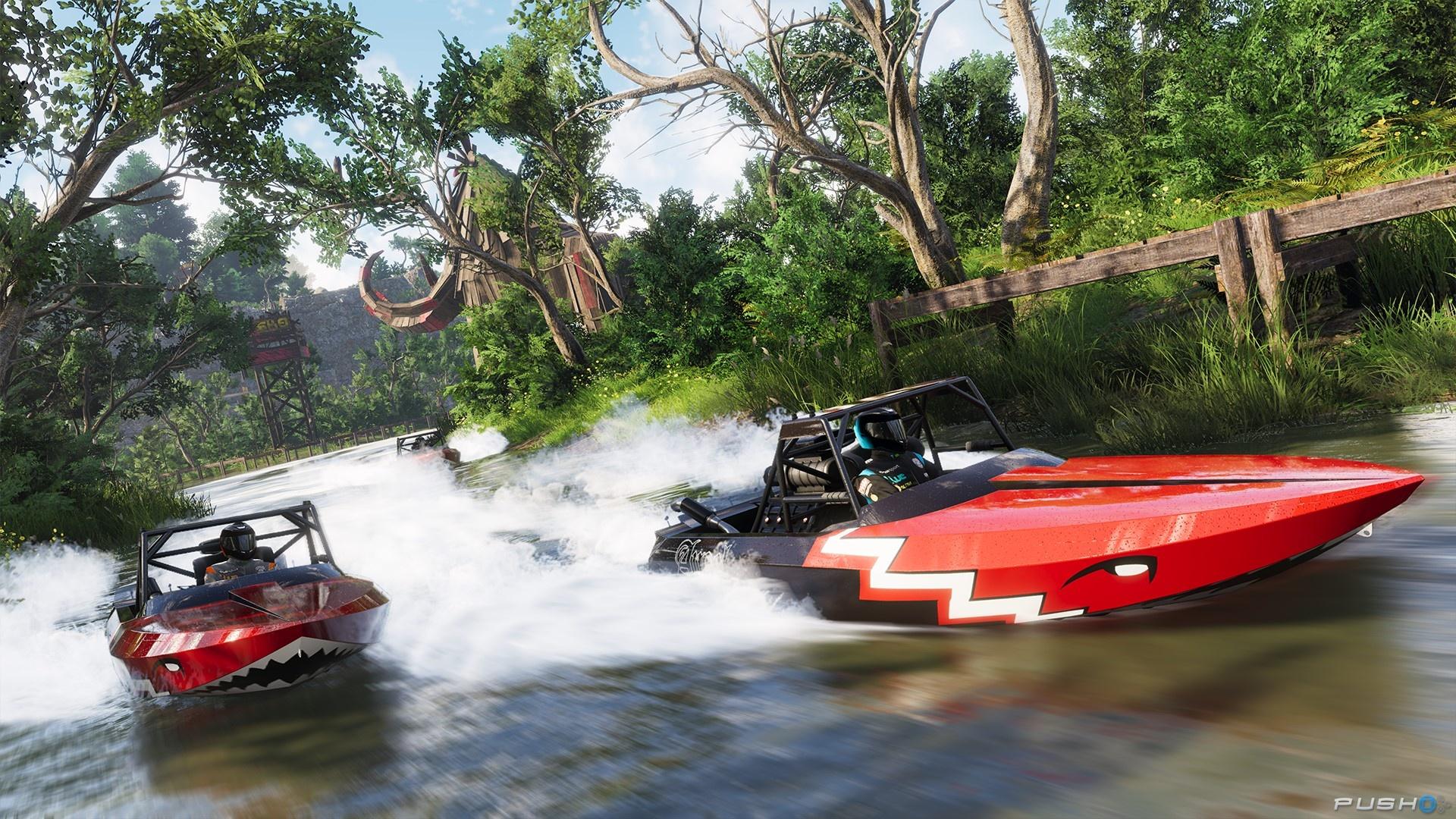 Foncer au travers du bayou de la Louisiane au volant d'un hors-bord