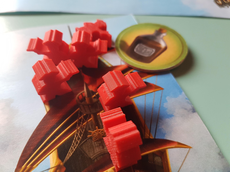 Le jeton rhum permet au joueur d'augmenter la distance de ses déplacements