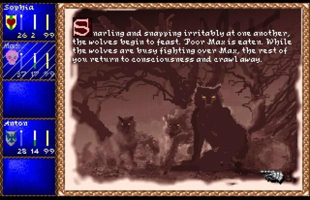 Le jeu regorge de dangers, qu'ils soient humains, animaliers ou fantastiques